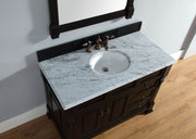James Martin Brookfield 48 Inch Antique Black Single Vanity w/ Drawers