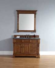James Martin 147-114-5276-2BLK Brookfield 48 Inch Country Oak Single Vanity w/ Drawers with Absolute Black Rustic Stone Top