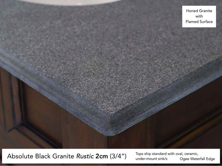 James Martin 147-114-5533 36 Inch Absolute Black Rustic Stone Top