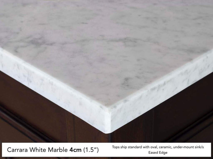 James Martin 030-S36-CAR 36 Inch Carrara White Stone Top