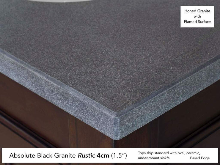 James Martin 030-S60D-BLK 60 Inch Black Rustic Stone Top