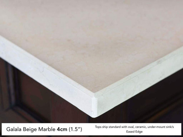 James Martin 030-S60D-GLB 60 Inch Galala Beige Marble Stone Top