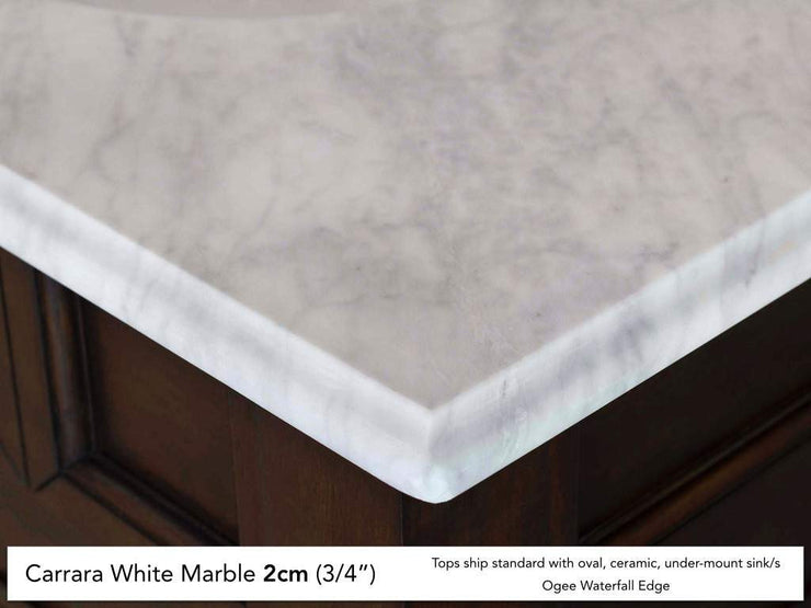 James Martin 147-114-5702 72 Inch Carrara White Stone Top