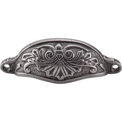 TOP KNOBS M61 CI CHATEAU ABBOT CUP PULL 3-15/16 INCH CENTER TO CENTER CAST IRON