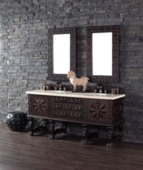 James Martin 150-V72-ANW Balmoral 72 Inch Double Vanity Cabinet, Antique Walnut