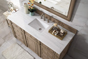James Martin 157-V60S-WW-3AF Bristol 60 Inch Single Vanity in White Washed Walnut with 3 CM Arctic Fall Solid Surface Top
