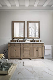 James Martin 157-V72-WW Bristol 72 Inch Double Vanity, White Washed Walnut