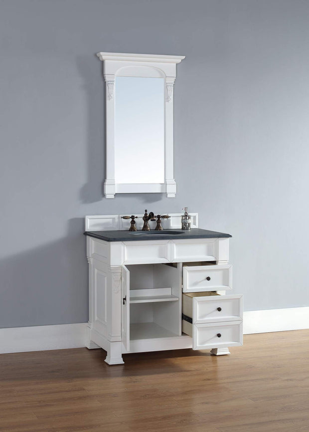 James Martin 147-114-5546 Brookfield 36 Inch Single Cabinet w/ Drawers, Cottage White