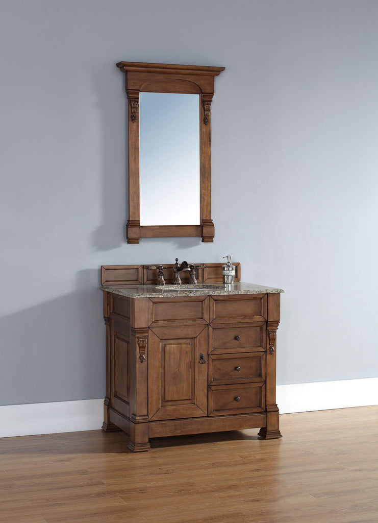 James Martin 147-114-5576 Brookfield 36 Inch Single Cabinet w/ Drawers, Country Oak