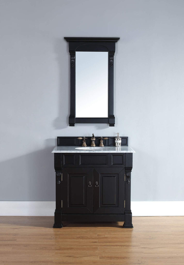 James Martin 147-114-5531 Brookfield 36 Inch Single Cabinet, Antique Black