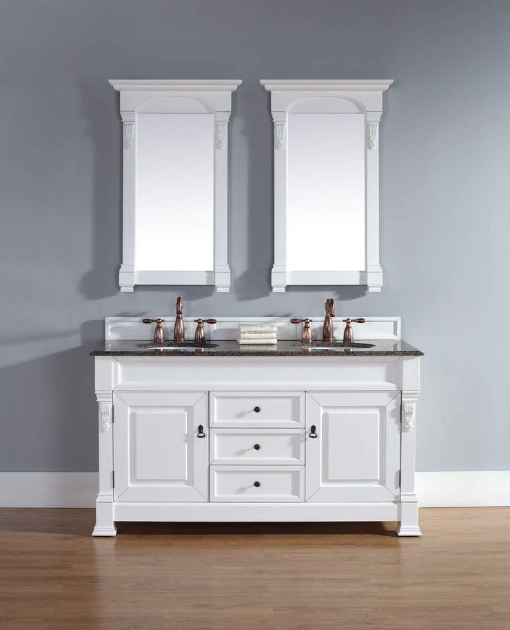 James Martin 147-114-5641 Brookfield 60 Inch Double Cabinet, Cottage White