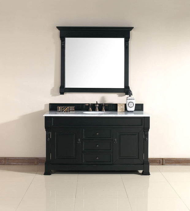 James Martin 147-114-5331 Brookfield 60 Inch Single Cabinet Antique Black
