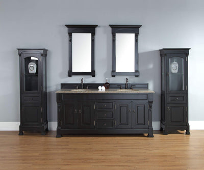 James Martin 147-114-5731 Brookfield 72 Inch Double Cabinet, Antique Black