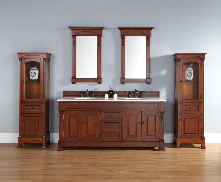 James Martin 147-114-5781 Brookfield 72 Inch Double Cabinet, Warm Cherry