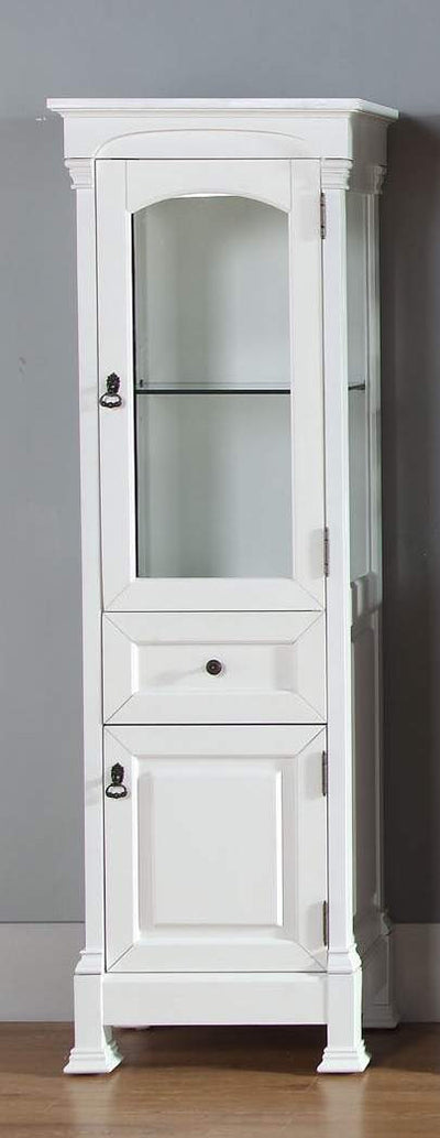 James Martin 147-114-5046 Brookfield Linen Cabinet, Cottage White