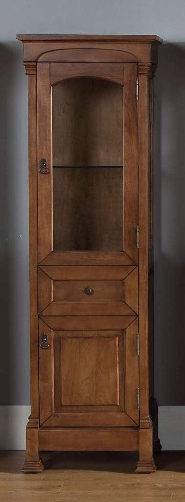 James Martin 147-114-5076 Brookfield Linen Cabinet, Country Oak