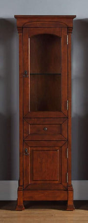 James Martin 147-114-5086 Brookfield Linen Cabinet, Warm Cherry