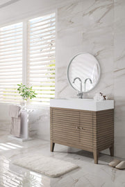 James Martin 210-V36-WW-SK Linear 36 Inch Single Vanity