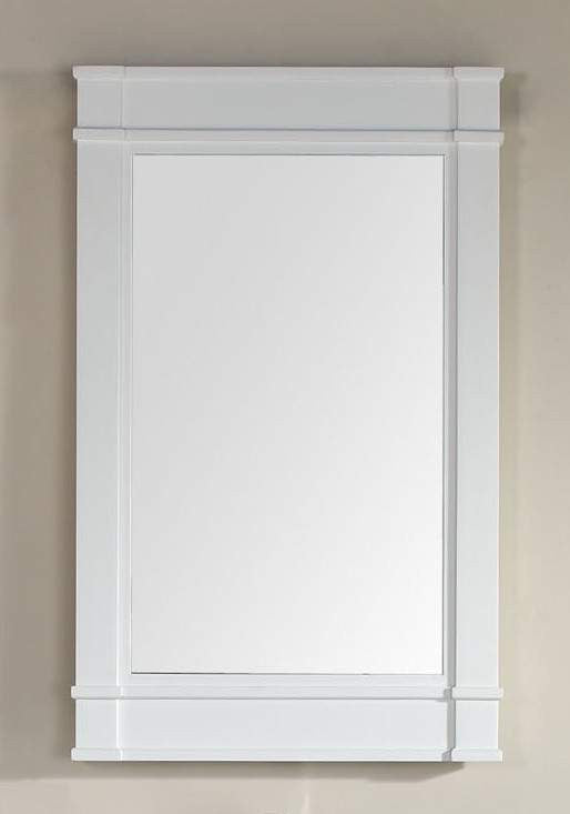 James Martin 800-M26-CWH Madison 26 Inch Single Mirror, Cottage White