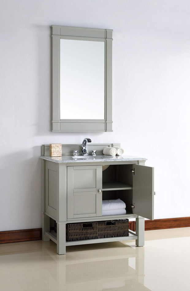 James Martin 800-V36-DVG-3SHG Madison 36 Inch Dove Gray Single Vanity with 3 CM Shadow Graty Quartz Top