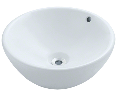 Polaris P0022VW 16-1/8 INCH PORCELAIN VESSEL SINK