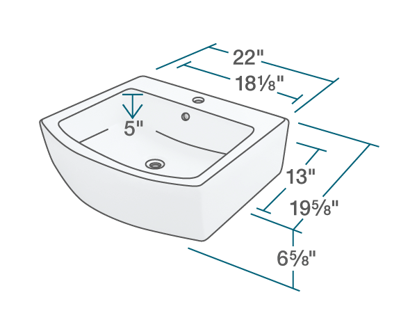 Polaris P003VB 22 Inch Porcelain Vessel Sink