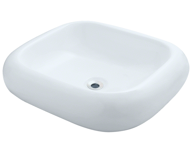 Polaris P001VW 20-1/8 INCH PILLOW TOP PORCELAIN VESSEL SINK