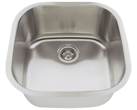Polaris P0202 Stainless Steel Sink 20 Inch Brushed Satin