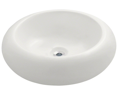 Polaris P021VB 19 7/8 x 19 7/8 x 6 1/8 inch Pillow Top Porcelain Vessel Sink