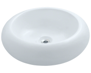 Polaris P021VW 19 7/8 x 19 7/8 x 6 1/8 inch Porcelain Vessel Sink