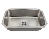 Polaris P0301US Stainless Steel Kitchen Sink 30-1/2 Inch Brushed Satin
