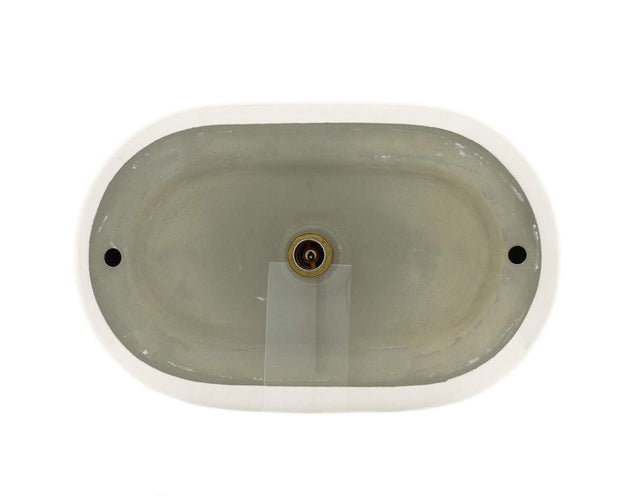 Polaris P031VB 25 x 16 x 6 1/2 inch Pillow Top Porcelain Vessel Sink