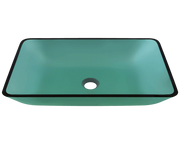 Polaris P046E 22-3/8 INCH COLORED GLASS VESSEL BATHROOM SINK