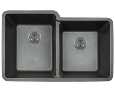 Polaris P108BL 32-1/2 INCH DOUBLE OFFSET BOWL ASTRAGRANITE SINK