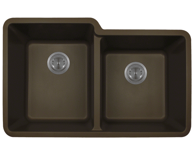 Polaris P108M 32-1/2 INCH DOUBLE OFFSET BOWL ASTRAGRANITE SINK