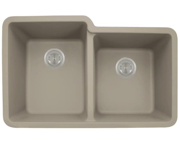 Polaris P108ST 32-1/2 INCH DOUBLE OFFSET BOWL ASTRAGRANITE SINK