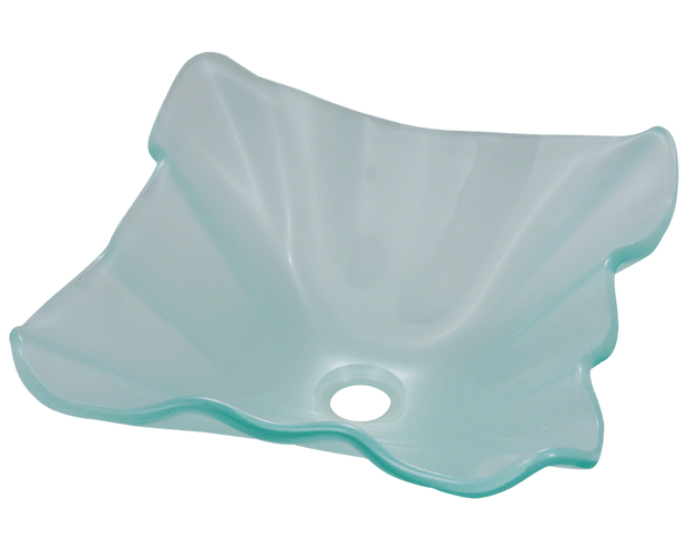 POLARIS P116 FROSTED GLASS VESSEL SINK 17 INCH FROSTED GLASS