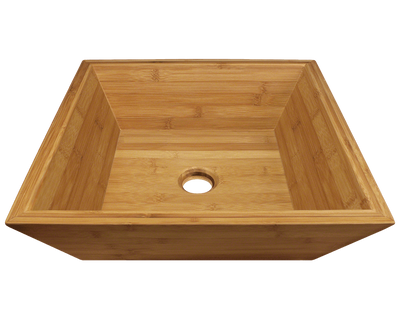POLARIS P198 BAMBOO VESSEL BATHROOM SINK 16-1/8 INCH LAMINATED BAMBOO