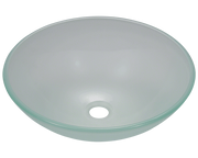POLARIS P206 FROSTED GLASS VESSEL SINK 16-1/2 INCH FROSTED GLASS