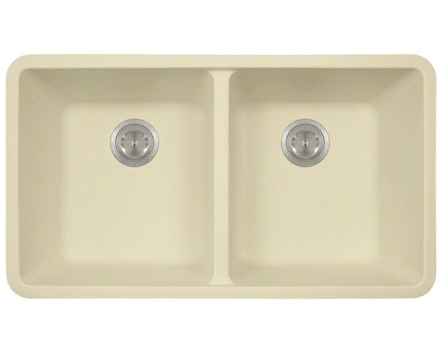Polaris P208BE 32-1/2 INCH DOUBLE EQUAL BOWL ASTRAGRANITE KITCHEN SINK