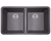 Polaris P208S 32-1/2 INCH DOUBLE EQUAL BOWL ASTRAGRANITE KITCHEN SINK