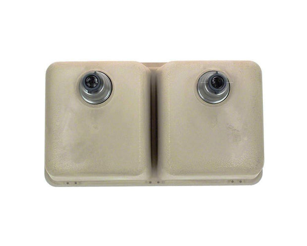 Polaris P208ST 32-1/2 INCH DOUBLE EQUAL BOWL ASTRAGRANITE KITCHEN SINK