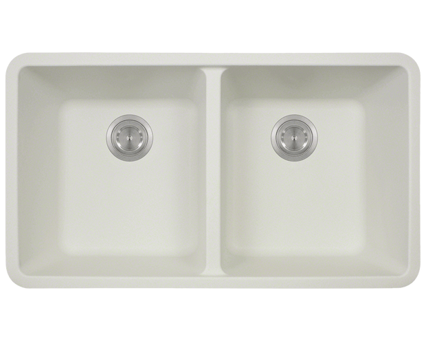 Polaris P208W 32-1/2 INCH DOUBLE EQUAL BOWL ASTRAGRANITE KITCHEN SINK