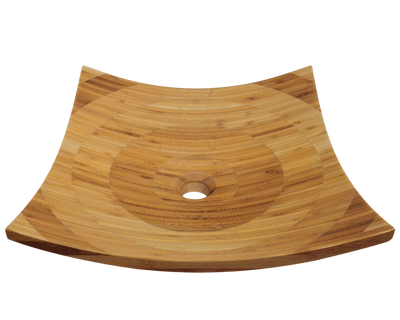 POLARIS P298 BAMBOO VESSEL BATHROOM SINK 16-1/8 INCH LAMINATED BAMBOO