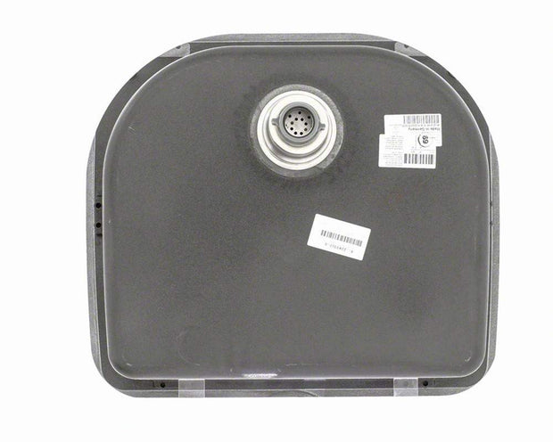 Polaris P428BL 24-3/4 Inch D-Bowl AstraGranite Sink