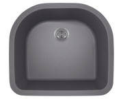 Polaris P428S 24-3/4 Inch D-Bowl AstraGranite Sink