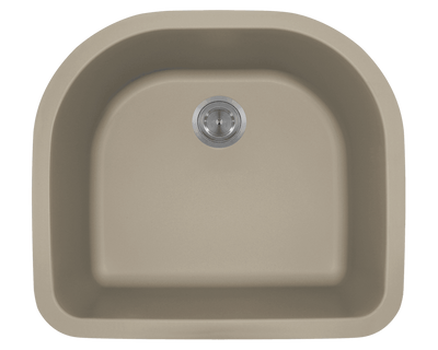 Polaris P428ST 24-3/4 Inch D-Bowl AstraGranite Sink