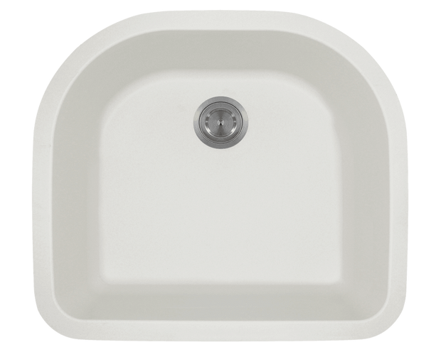 Polaris P428W 24-3/4 Inch D-Bowl AstraGranite Sink