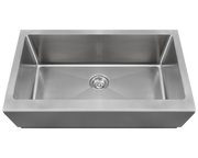 POLARIS P504 SINGLE BOWL STAINLESS STEEL APRON SINK 32-3/4 INCH BRUSHED SATIN