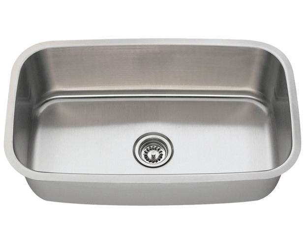 Polaris P813 Stainless Steel Kitchen Sink 31-1/2 Inch Brushed Satin